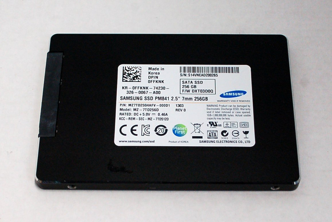 Solid State Drive (SSD) Samsung 256GB Refurbished